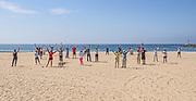 Social Distancing on the Beach in Corona Del Mar