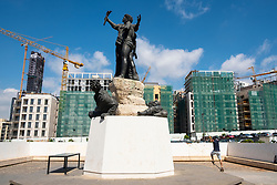 The Martyrs statue in Martyrs Square, Beirut , Lebanon