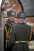Moscow, Russia, 20/02/2005..Changing of the Kremlin  guard at the Tomb of the Unkown Soldier.