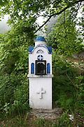 Greece, Thessaly, Tsagarada on the slopes of mount Pelion A road side memorial shrine
