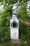 Greece, Thessaly, Tsagarada on the slopes of mount Pelion A road side memorial shrine