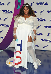 August 27, 2017 - Inglewood, California, U.S. - Lizzo arrives for the 2017 MTV Video Music Awards at The Forum. (Credit Image: © Lisa O'Connor via ZUMA Wire)