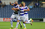 GOAL celebration Sandro during the EFL Cup match between Queens Park Rangers and Rochdale at the Loftus Road Stadium, London, England on 23 August 2016. Photo by Daniel Youngs.