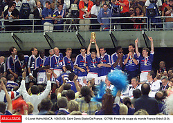 ©Lionel Hahn/ABACA.10925.06.Paris-France,12/07/ 1998. France made soccer history here on Sunday night, when the underdogs beat defending champions Brazil 3-0 to win the last World Cup this century before a delirious crowd of 80,000 people.