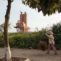 A cement factory at the former location of the Vietnam War era 85th Evacuation Hospital in Phú Bài, Thừa Thiên–Huế province, Vietnam. The government is building a new airport on that site.