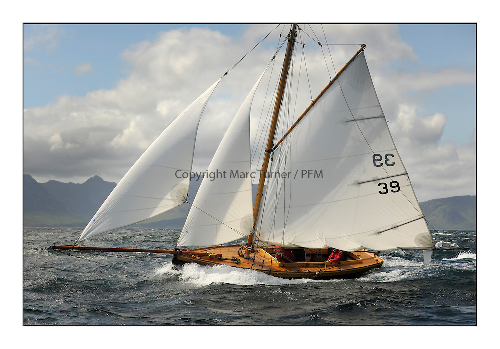 Day five of the Fife Regatta, Race from Portavadie on Loch Fyne to Largs. <br /> <br /> Ayrshire Lass, Paul Goss / Theo Rye, GBR, Gaff Cutter, Wm Fife 2nd, 1887<br /> <br /> * The William Fife designed Yachts return to the birthplace of these historic yachts, the Scotland's pre-eminent yacht designer and builder for the 4th Fife Regatta on the Clyde 28th June–5th July 2013<br /> <br /> More information is available on the website: www.fiferegatta.com