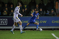 AFC Wimbledon midfielder Callum Reilly (33) dribbling during the EFL Sky Bet League 1 match between AFC Wimbledon and Burton Albion at the Cherry Red Records Stadium, Kingston, England on 28 January 2020.