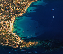 Aerial of St Maxime, French Riviera