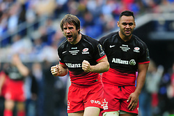 Marcelo Bosch of Saracens celebrates late in the game - Mandatory byline: Patrick Khachfe/JMP - 07966 386802 - 14/05/2016 - RUGBY UNION - Grand Stade de Lyon - Lyon, France - Saracens v Racing 92 - European Rugby Champions Cup Final.