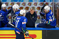 Jan Drozg of Slovenia celebrate after scoring a goal during ice hockey match between Slovenia and Lithuania at IIHF World Championship DIV. I Group A Kazakhstan 2019, on May 5, 2019 in Barys Arena, Nur-Sultan, Kazakhstan. Photo by Matic Klansek Velej / Sportida