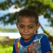 Portrait of a papuan boy.