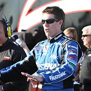 Sprint Cup Series driver Carl Edwards (99) at Daytona International Speedway on February 18, 2011 in Daytona Beach, Florida. (AP Photo/Alex Menendez)