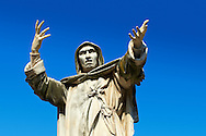 Statue of Savonarola Statue, Ferrara, Italy .<br /> <br /> Visit our ITALY PHOTO COLLECTION for more   photos of Italy to download or buy as prints https://funkystock.photoshelter.com/gallery-collection/2b-Pictures-Images-of-Italy-Photos-of-Italian-Historic-Landmark-Sites/C0000qxA2zGFjd_k<br /> If you prefer to buy from our ALAMY PHOTO LIBRARY  Collection visit : https://www.alamy.com/portfolio/paul-williams-funkystock/ferrara.html .<br /> <br /> Visit our ITALY HISTORIC PLACES PHOTO COLLECTION for more   photos of Italy to download or buy as prints https://funkystock.photoshelter.com/gallery-collection/2b-Pictures-Images-of-Italy-Photos-of-Italian-Historic-Landmark-Sites/C0000qxA2zGFjd_k<br /> <br /> <br /> Visit our MEDIEVAL PHOTO COLLECTIONS for more   photos  to download or buy as prints https://funkystock.photoshelter.com/gallery-collection/Medieval-Middle-Ages-Historic-Places-Arcaeological-Sites-Pictures-Images-of/C0000B5ZA54_WD0s