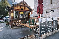 THEMENBILD - geschlossener Würstel/ Bosna Stand während der Corona Pandemie, aufgenommen am 17. April 2019 in Hallstatt, Österreich // closed sausages/ Bosna Grill during the Corona Pandemic in Hallstatt, Austria on 2020/04/17. EXPA Pictures © 2020, PhotoCredit: EXPA/ JFK