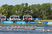 Sarasota. Florida Men's Eights Final.  Gold Medal GER M8+. Silver Medal USA M8+. Bronze Medal ITA M8+. in the closing stages of  the race. .Sunday Final's Day at the  2017 World Rowing Championships, Nathan Benderson Park<br /> <br /> Sunday  01.10.17   <br /> <br /> [Mandatory Credit. Peter SPURRIER/Intersport Images].<br /> <br /> <br /> NIKON CORPORATION -  NIKON D4S  lens  VR 500mm f/4G IF-ED mm. 320 ISO 1/1600/sec. f 7.1