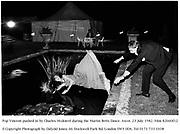 Pop Vincent pushed in by Charles Mcdowel during the Martin Betts Dance. Ascot. 23 July 1982. Film 82660f12<br />