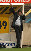Photo: Paul Greenwood.<br />Preston North End v Luton Town. Coca Cola Championship. 04/11/2006. Lutons manager Mike Newell takes a relaxed stance.