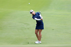 March 2, 2019 - Singapore - Jodi Ewart Shadoff of England  plays a shot on the 8th hole during the third round of the Women's World Championship at the Tanjong Course, Sentosa Golf Club. (Credit Image: © Paul Miller/ZUMA Wire)