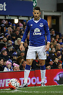 Kevin Mirallas of Everton looks to take a corner. The Emirates FA cup, 3rd round match, Everton v Dagenham & Redbridge at Goodison Park in Liverpool on Saturday 9th January 2016.<br /> pic by Chris Stading, Andrew Orchard sports photography.