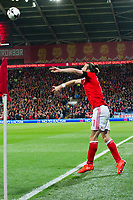 Football - 2016 / 2017 World Cup Qualifier - Group D: Wales vs. Serbia<br /> <br /> Gareth Bale  of Wales throws in at Cardiff City Stadium.<br /> <br /> COLORSPORT/WINSTON BYNORTH