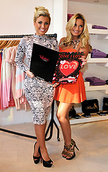 © Licensed to London News Pictures. 02/02/2013. Bristol, UK. Billie and Sam Faiers from TOWIE at the opening of the Minnies Boutique pop-up shop in Bristol's Cabot Circus shopping centre.  All purchasers will be sent a Valentine card from the twins and will be entered into a competition with the draw on Valentines Day.  02 February 2013..Photo credit : Simon Chapman/LNP