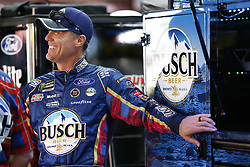 April 27, 2018 - Talladega, Alabama, United States of America - Kevin Harvick (4) hangs out in the garage during practice for the GEICO 500 at Talladega Superspeedway in Talladega, Alabama. (Credit Image: © Chris Owens Asp Inc/ASP via ZUMA Wire)