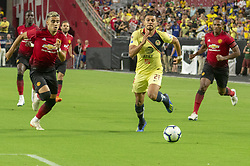 July 19, 2018 - Glendale, Arizona, U.S - Club America's HENRY MARTIN (21) chases for the ball against Manchester United Thursday, July 19, 2018, at University of Phoenix Stadium in Glendale, Arizona.  Manchester United tied 1-1 against Club America. (Credit Image: © Jeff Brown via ZUMA Wire)