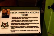 Landguard Fort, Felixstowe, Suffolk, England, UK 1950s Cold War Seaward defence headquarters telecommunications room