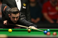 Mark Selby (Eng) in action. Barry Hawkins (Eng) v Mark Selby (Eng) , Quarter-Final match at the Dafabet Masters Snooker 2017, at Alexandra Palace in London on Friday 20th January 2017.<br /> pic by John Patrick Fletcher, Andrew Orchard sports photography.