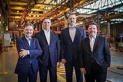 Alexandre Gazzi, David Abramo Randon, Daniel Randon e  Sérgio Carvalho (D). FOTO: Jefferson Bernardes/ Agência Preview