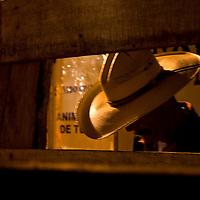 A cowboy prepares the holding pen for the next bull, at a rodeo in the beachside town of Dominical, Costa Rica on April 26, 2009.  (Photo/William Byrne Drumm)