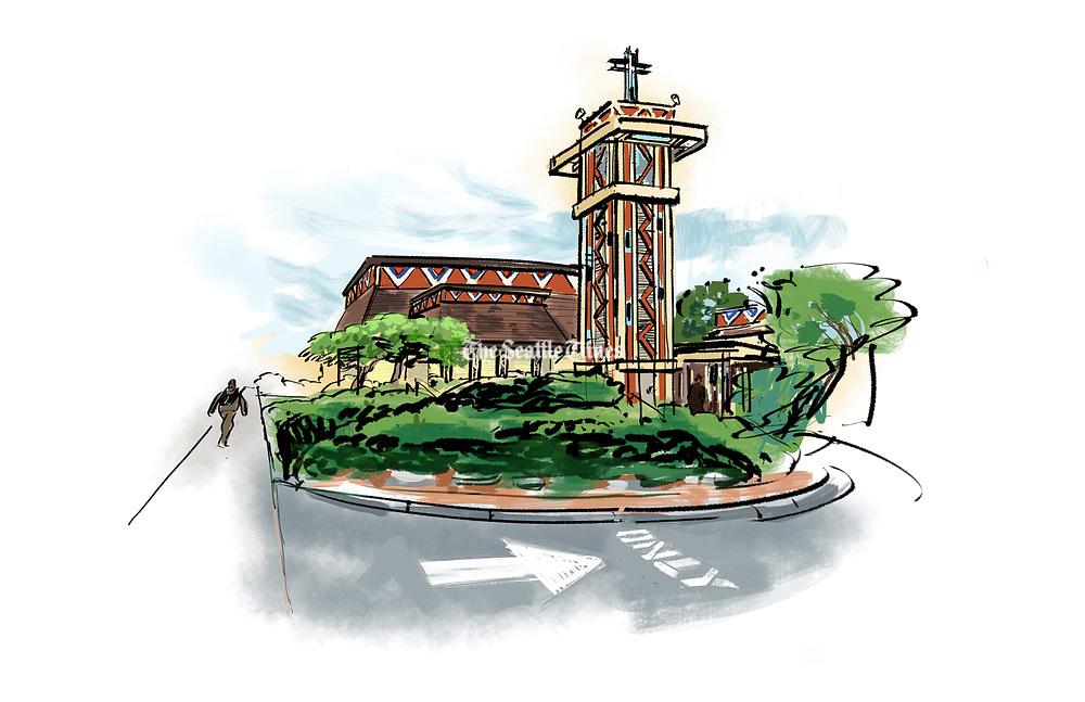 The Mount Zion Baptist Church was designated a Seattle Historic Landmark by Major Jenny Durkan. (Gabriel Campanario / The Seattle Times)