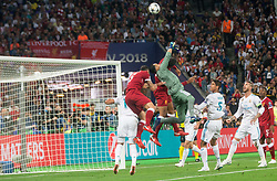 Keylor Navas of Real Madrid in action during the UEFA Champions League final football match between Liverpool and Real Madrid at the Olympic Stadium in Kiev, Ukraine on May 26, 2018.Photo by Sandi Fiser / Sportida