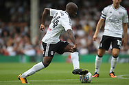 Fulham Forward Sone Aluko in action. EFL Skybet football league championship match, Fulham  v Norwich city at Craven Cottage in London on Saturday 5th August 2017.<br /> pic by Steffan Bowen, Andrew Orchard sports photography.