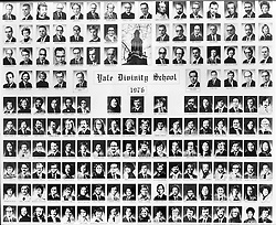 1976 Yale Divinity School Senior Portrait Class Group Photograph