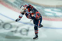 KELOWNA, BC - DECEMBER 27:  Ryley Appelt #23 of the Kamloops Blazers drops the gloves with Jake Lee #21 of the Kelowna Rockets during third period at Prospera Place on December 27, 2019 in Kelowna, Canada. (Photo by Marissa Baecker/Shoot the Breeze)