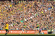 Johnny Buckley hits the upright in the All-Ireland Football Final against Donegal in Croke Park 2014.<br /> Photo: Don MacMonagle<br /> <br /> <br /> Photo: Don MacMonagle <br /> e: info@macmonagle.com
