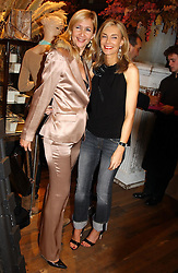 Left to right, TANIA BRYER and KIM HERSOV at Polo Ralph Lauren's Pink Pony Party to launch it's Pink Pony Collection in aid of Cancer Research UK, held at their Fulham Road Store, London on 13th October 2004.<br /><br /> UKNON EXCLUSIVE - WORLD RIGHTS
