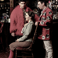 Picture shows :  'The Strange Undoing of Prudencia Hart', is a storytelling show based on the Border Ballads and begins touring pubs, howfs and other unlikely venues in a quirky, boisterous show in the Scottish Folk tradition. A National Theatre of Scotland production..Cast Madeleine Worrall ( Prudencia Hart), Andrew Clark, David McKay, Annie Grace, Aly Macrae..Created by Wils Wilson and David Greig. Directed by Wils Wilson.. For further information press contact on this production is Liz Smith 07971 417210...Picture © Drew Farrell. Tel 07721-735041.