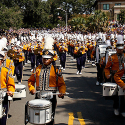 October 22, 2011; Baton Rouge, LA, USA; LSU Tigers band prior to kickoff of a game against the Auburn Tigers at Tiger Stadium.  Mandatory Credit: Derick E. Hingle-US PRESSWIRE / © Derick E. Hingle 2011