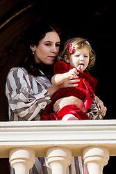 Tatiana Santo Domingo und India Casiraghi bei den Feierlichkeiten zum Nationalfeiertag in Monaco / 191116<br /> <br /> ***National Day in Monaco, November 19th, 2016***