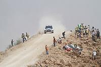MOTORSPORT - WRC 2011 - JORDAN RALLY - 14 TO 16/04/2011 - DEAD SEA (JOR) - PHOTO : FRANCOIS BAUDIN / AGENCE DE  PRESSE AUSTRAL  <br /> 11 PETTER SOLBERG (NOR) / CHRIS PATTERSON (GBR) - CITROËN DS3 WRC - PETTER SOLBERG WRT - ACTION CRASH <br /> 03 MIKKO HIRVONEN (FIN) / JARMO LEHTINEN (FIN) - FORD FIESTA RS WRC - FORD ABU DHABI WORLD RALLY TEAM - ACTION