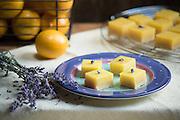Meyer Lemon Lavender Squares by Rodney Bedsole, a food photographer based in Nashville and New York City.