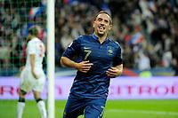 FOOTBALL - FIFA WORLD CUP 2014 - QUALIFYING - FRANCE v BIELORUSSIA - SAINT DENIS (FRANCE) - 11/09/2012 - PHOTO JEAN MARIE HERVIO / REGAMEDIA / DPPI - JOY FRANCK RIBERY (FRA) AFTER HIS GOAL