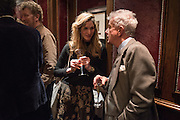 CATRIONA GRAY,; NICKY HASLAM, David Campbell Publisher of Everyman's Library and Champagen Bollinger celebrate the completion of the Everyman Wodehouse in 99 volumes and the 2015 Bollinger Everyman Wodehouse prize shortlist. The Archive Room, The Goring Hotel. London. 20 April 2015.
