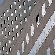 Windows at three buildings at La Defense, Top building is Tours Societe Generale