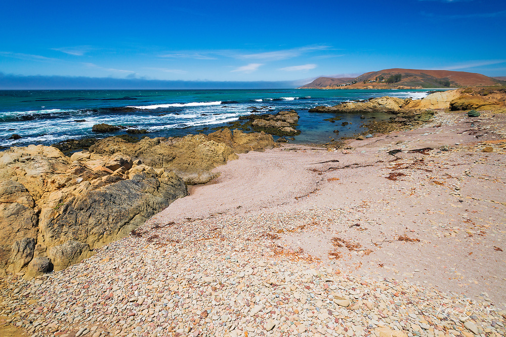 Rocky beach at Estero Bluffs State Park, Cayucos, California USA