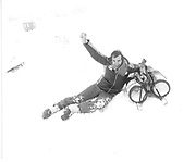 Mark Flawn Thomas. D.S.C Ski Race St.Moritz 1983© Copyright Photograph by Dafydd Jones 66 Stockwell Park Rd. London SW9 0DA Tel 020 7733 0108 www.dafjones.com