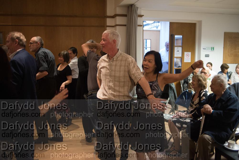 Soho Society Silver Sunday Tea Dance, St. Anne's Church Hall, Soho, London. 2 October 2016