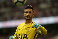 Tottenham Hotspur  Goalkeeper Hugo Lloris looks on. <br /> Premier league match, Tottenham Hotspur v AFC Bournemouth at Wembley Stadium in London on Saturday 14th October 2017.<br /> pic by Kieran Clarke, Andrew Orchard sports photography.
